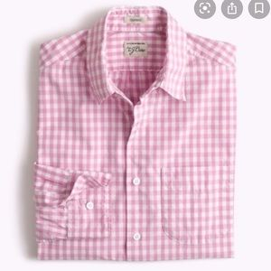 J Crew men's gingham classic button down #4936